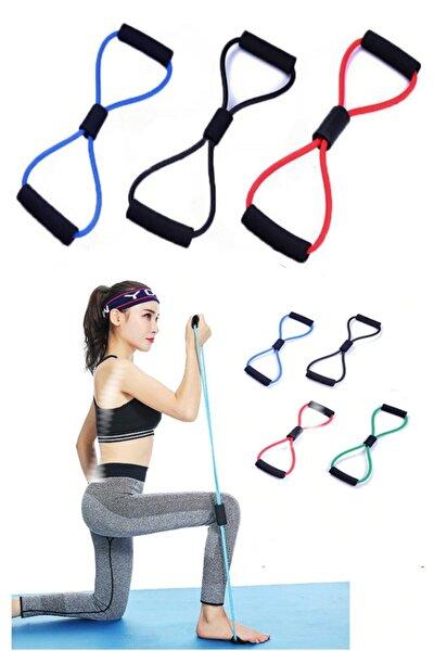 Mavi Egzersiz Fitness Kas Geliştirici Direnç Lastiği