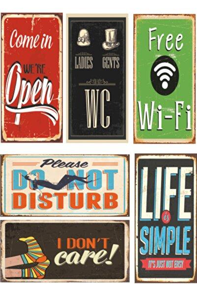 6lı Retro Ahşap Poster Seti-3