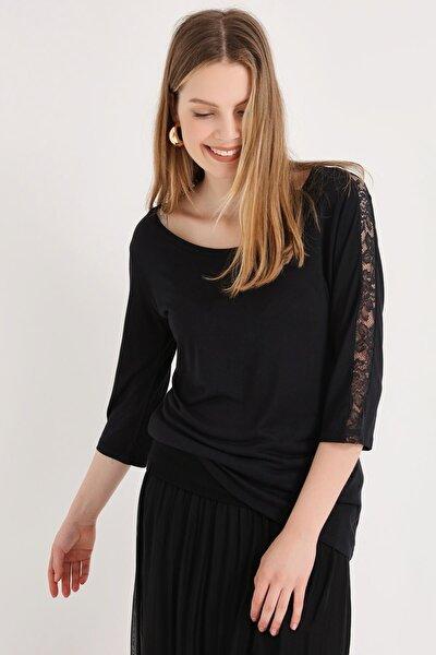 Kadın Sıyah Bluz 20250220016