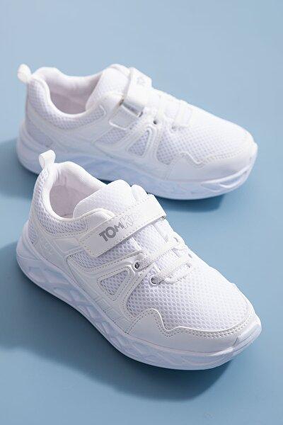 Unisex Çocuk Beyaz Spor Ayakkabı TB3401-3