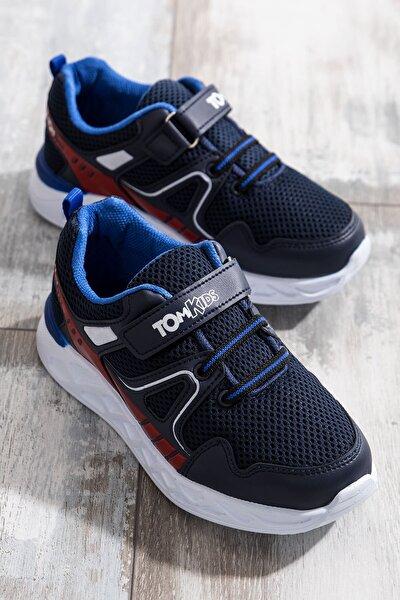 Unisex Çocuk Lacivert Kırmızı Spor Ayakkabı TB3401-3