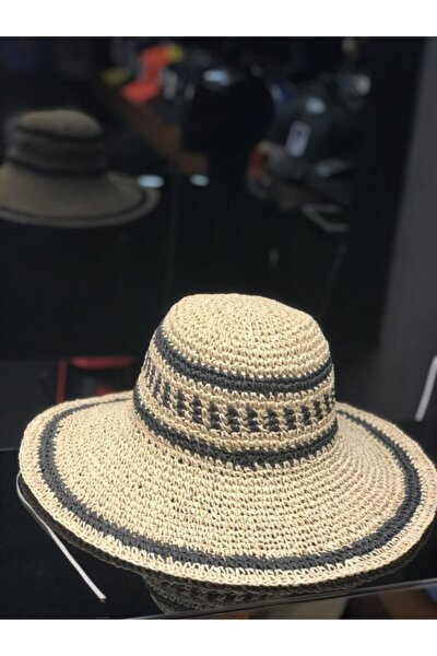 Kadın Krem Hasır Şapka