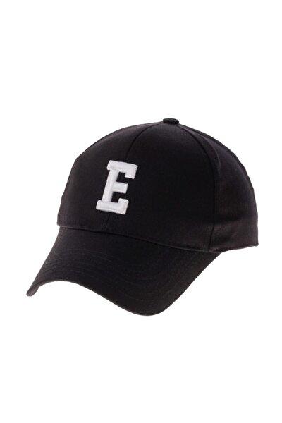 Şapka Alfabe Serisi Siyah E Harfi