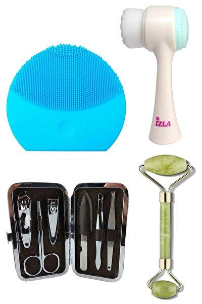 Tikatti Özel Bakım Seti -cilt Temizleme Fırçası,titreşimli Cilt Temizleme,yeşim Taşı Ve Manikür Seti