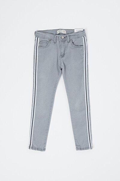 Kız Çocuk Gri Kot Pantolon