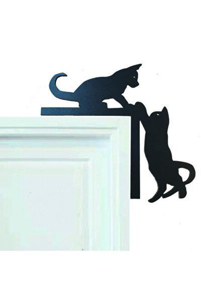Dekoratif Kedi Tasarımlı Kapı Ve Ayna Köşe Süsü