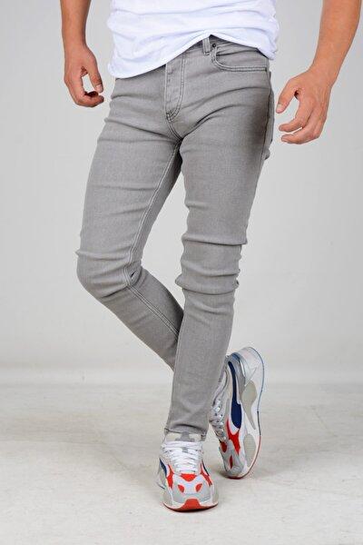 Erkek Skinny Jean Kot Pantolon Gri
