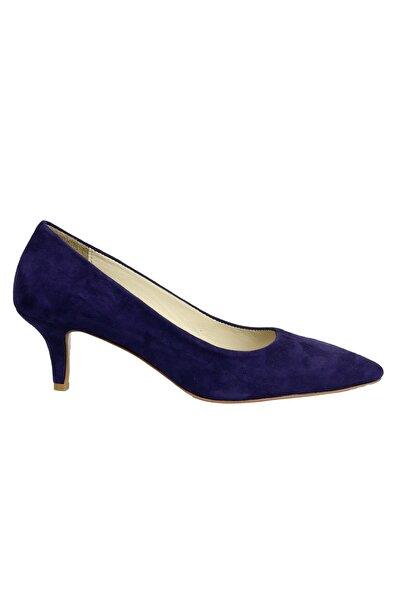Kadın Mor Süet Topuklu Ayakkabı