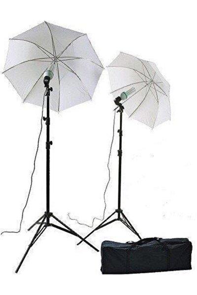 Softbox Şemsiye 84 cm Stüdyo 2m Stand Kit Sürekli Işık