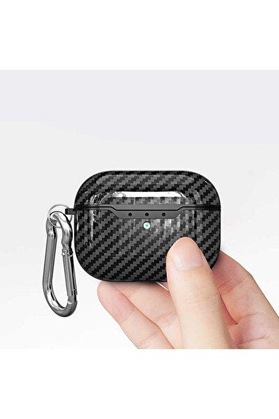 Apple Airpods Pro Kılıf Carbon Fiber
