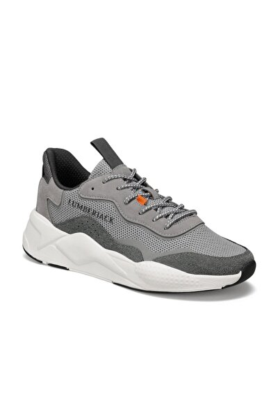 Esteban Gri Erkek Kalın Taban Sneaker Spor Ayakkabı