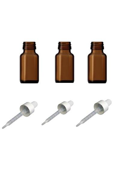Şişe Cam Damlalık Kapaklıklı 30 ml - 3 Adet