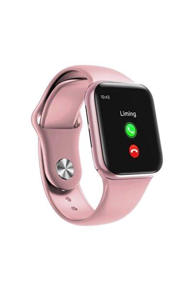 Akıllı Saat B08 Smart Watch Arama Cevaplama Sos Tam Dokunmatik Pembe