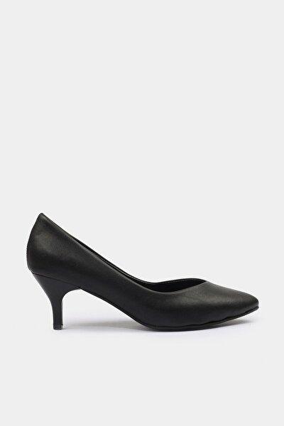 Siyah Yaya Kadın Topuklu Ayakkabı