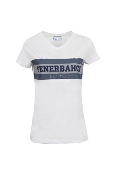 Kadın Beyaz Kolej Fb 1907 Spor T-Shirt