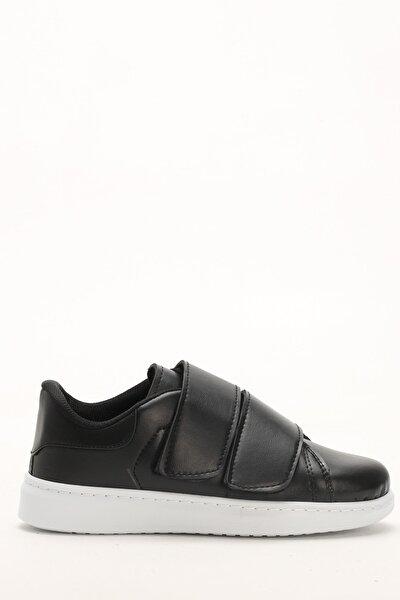 Kadın Siyah Beyaz Detaylı Spor Ayakkabı