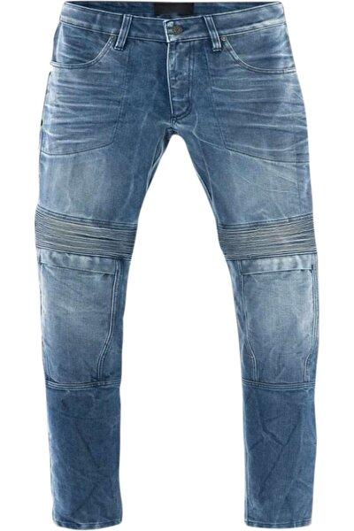 Erkek Mavi Korumalı Pantolon