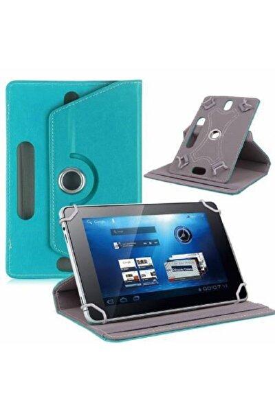 "Samsung Galaxy Tab A P580 10.1"" Dönebilen Standlı Tablet Kılıfı - Turkuaz"