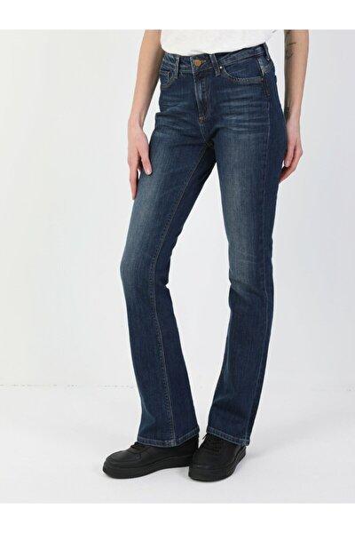 791 Monica Normal Kesim Normal Bel Süper Dar Paça Kadın Lacivert Jean Pantolon