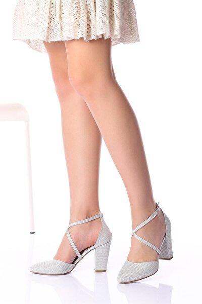 Gümüş Mercan Kadın Abiye Ayakkabı 1310cnr