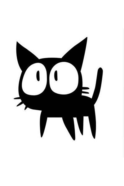 Minik Kedi Araba Sticker  Yapıştırma 20CM