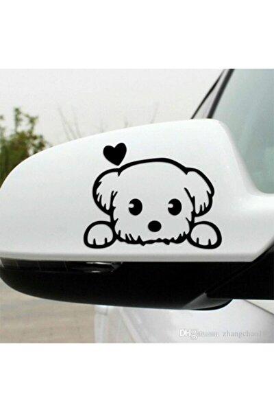 Sevimli Köpek Dost Araba Sticker Yapıştırma 2 Adet