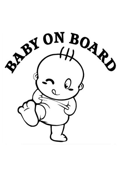 Arabada Bebek var Sevimli Araba Etiketler Çıkartmaları