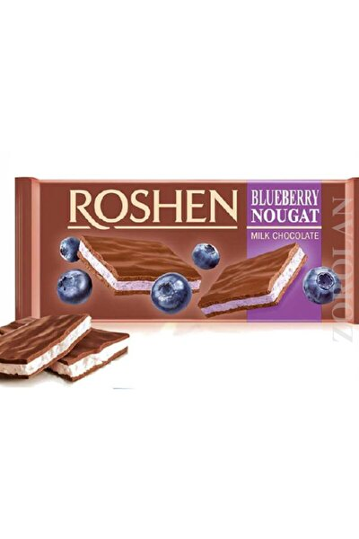 Roshen blueberry  nougat milk chocolate 90gr