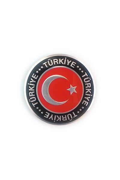 OTOGRAFİK Ay Yıldız Yuvarlak Metalize Türkiye Arma