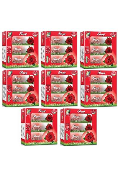 Islak Havlu Mendil 50 Yaprak 24 Lü Set Gül/Rose Kapaklı (8Pk*3)