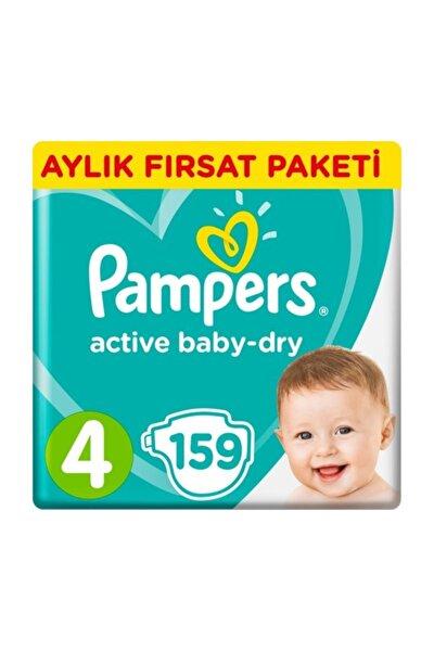 Bebek Bezi Aktif Bebek 4 Beden 159 Adet Maxi Aylık Paket