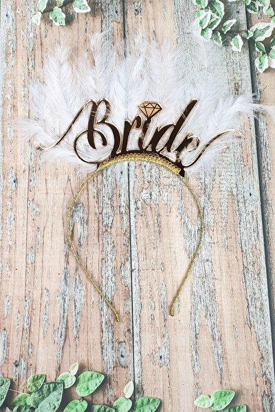 Tüylü Bride Taç, Gelin Tacı, Altın