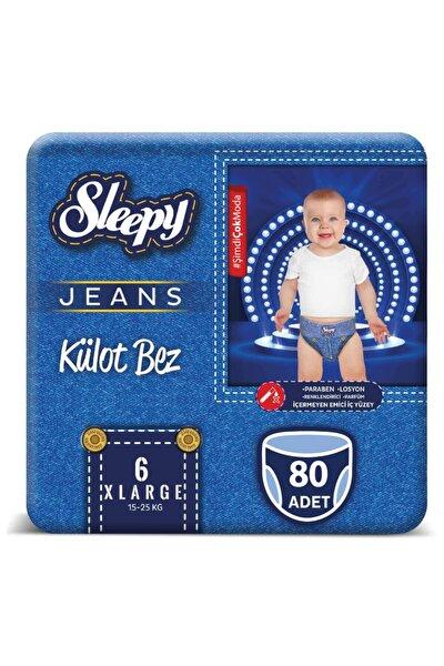 Jeans Külot Bez 6 Numara Xlarge 4'Lü Jumbo 80 Adet 15-25 kg