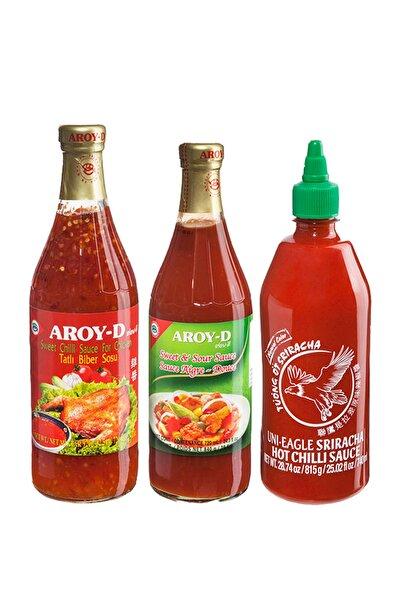 Sos Paketi (Tatlı Biber Sosu, Tatlı Ekşi Sos, Sriracha Acı Biber Sosu)