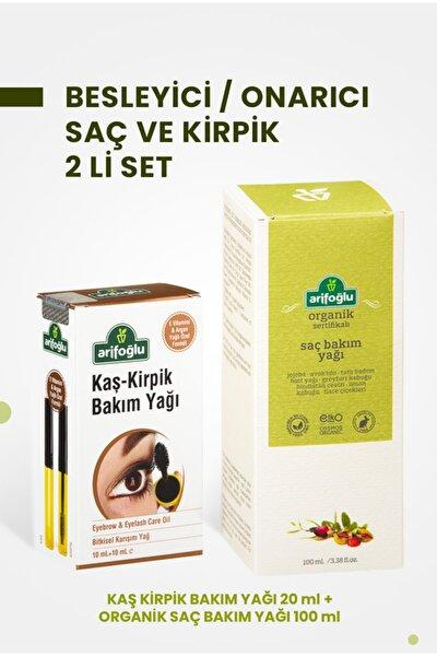 Kaş Kirpik Bakım Yağı 20 ml + Organik Saç Bakım Yağı 100 ml 2 Li Set