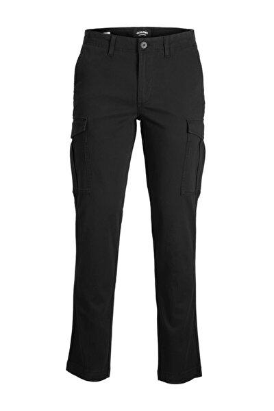 Erkek Siyah Renk Kargo Pantolon