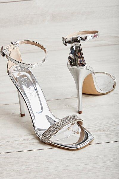Lame Kadın Abiye Ayakkabı K01527472439
