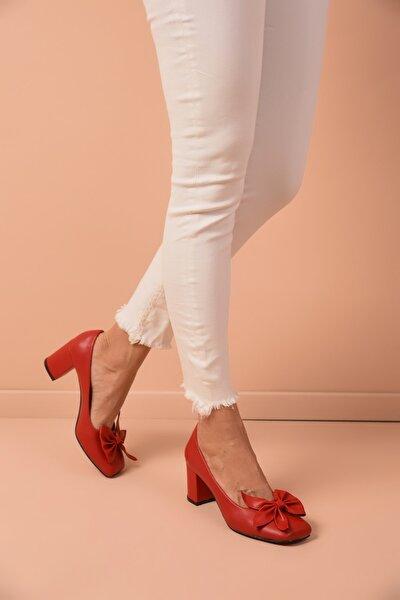 Kadın Kırmızı Topuklu Ayakkabı