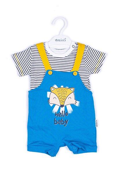 Erkek Bebek Mavi Pamuklu Takım 2'li