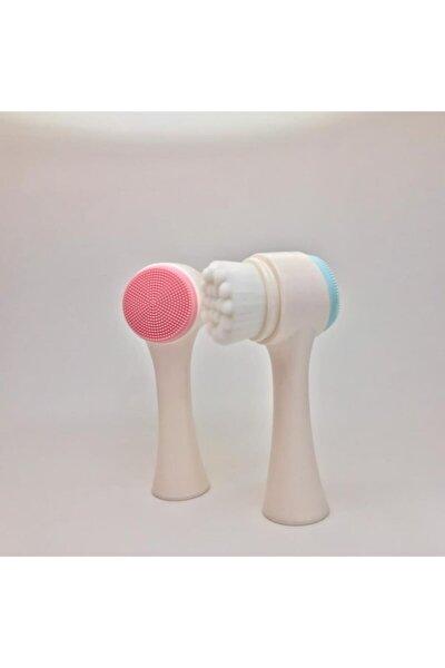 Pembe Care Yüz Temizleme Fırcası Çift İşlevli