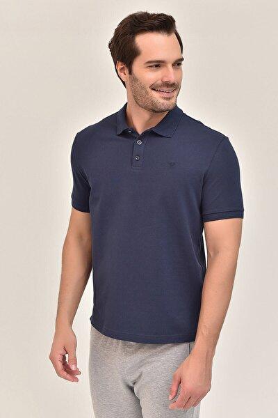 Lacivert Büyük Beden Polo Yaka Erkek T-Shirt GS-8983