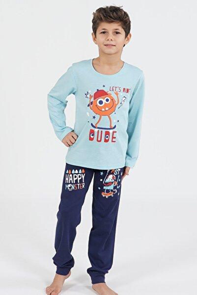 Pamuklu Erkek Çocuk Uzun Kol Pijama Takım