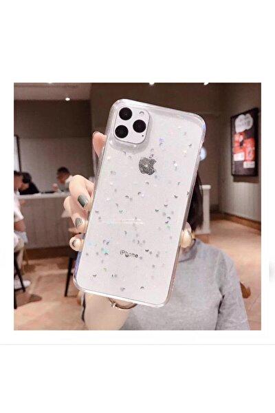 Apple Iphone 11 Şeffaf Simli Silikon Telefon Kılıfı