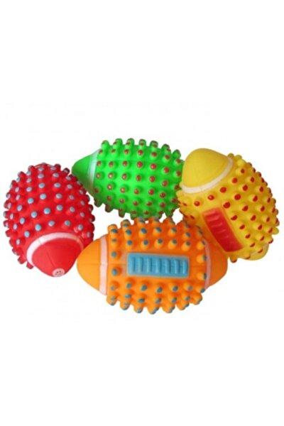 Renkli Kedi Köpek Isırma Topu Sesli Oyuncak ( 1 Adet )