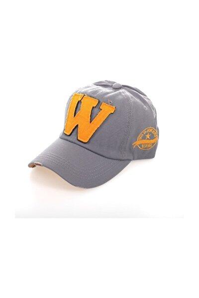 W Snapback Gri Şapka