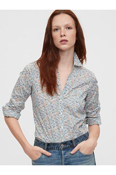 Kadın Beyaz Saf Pamuklu Gömlek