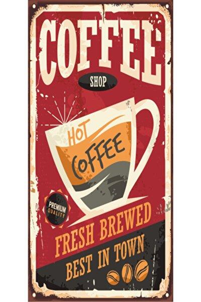 Kahve (10 Cm X 20 Cm) Mini Retro Ahşap Poster