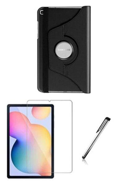 Samsung Galaxy Tab S6 Lite Sm-p610 -n Dönebilen Standlı Kılıf Siyah ( Set )