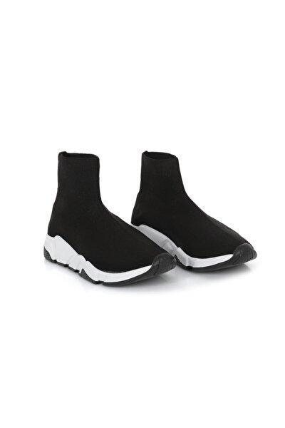Unısex Siyah Boğazlı Sneaker Spor Ayakkabı