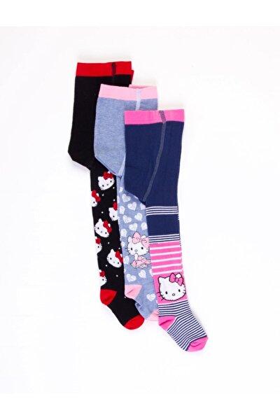 Kız Çocuk Pembe Külotlu Çorap 3'lü